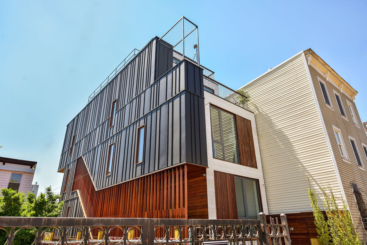 Shop Architects Designed This Zinc Clad Red Hook Townhouse