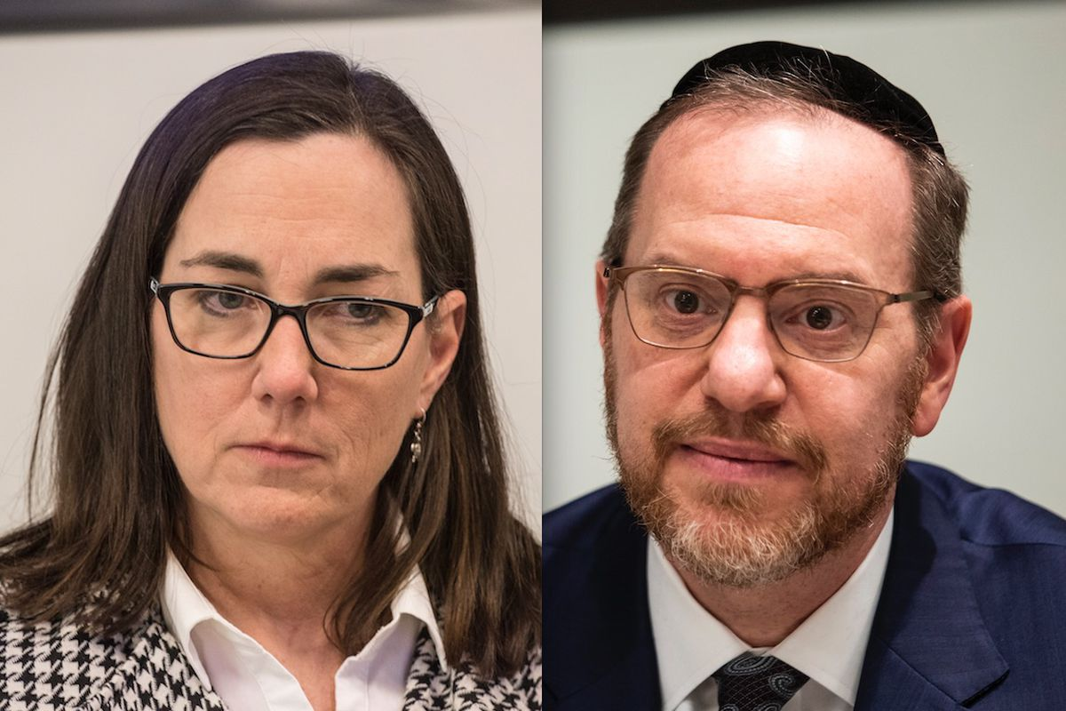 """State Rep. Kelly Cassidy, left, in 2017; state Rep. Yehiel """"Mark"""" Kalish, right, in January. File Photos."""