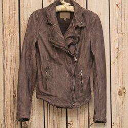 "Muubaa ""Monteria"" lamb leather jacket, $548 at <a href=""http://www.thirdstreethabit.com/shop/clothing/monteria_leather_jacket.html"">Third Street Habit</a>"