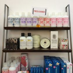 Beauty products including Kiehl's, Santa Maria Nobella, Diptyque, American mortals and Coola (sunscreens) are between 30-50% off
