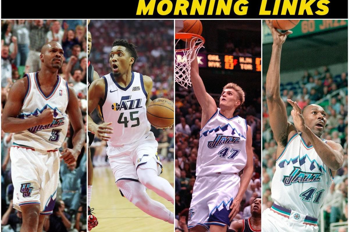best service b9328 4197c Morning links: Utah Jazz fans decide which jersey to retire ...