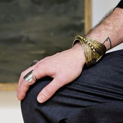 <b>What's one item that you passed on that you wish you could go back and buy?</b>  A massive cuff I saw during a Taher Chemirik trunkshow in 2007. I can barely remember it, but it was totally superhero status.<br><br> <b>If you could trade closets with