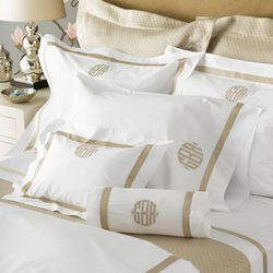 """<strong>Matouk</strong> Lowell Collections, <a href=""""http://www.suefisherking.com/pro_collectiontypes/productset/25"""">$214-$698</a> for queen size at Sue Fisher King"""