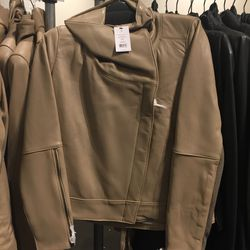 Leather jacket, size P, $499 (from $1,390)