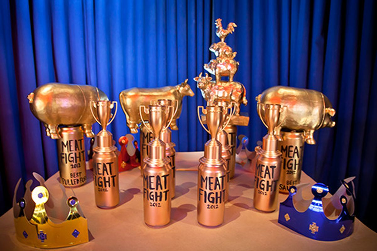 Trophies from a previous Meat Fight.