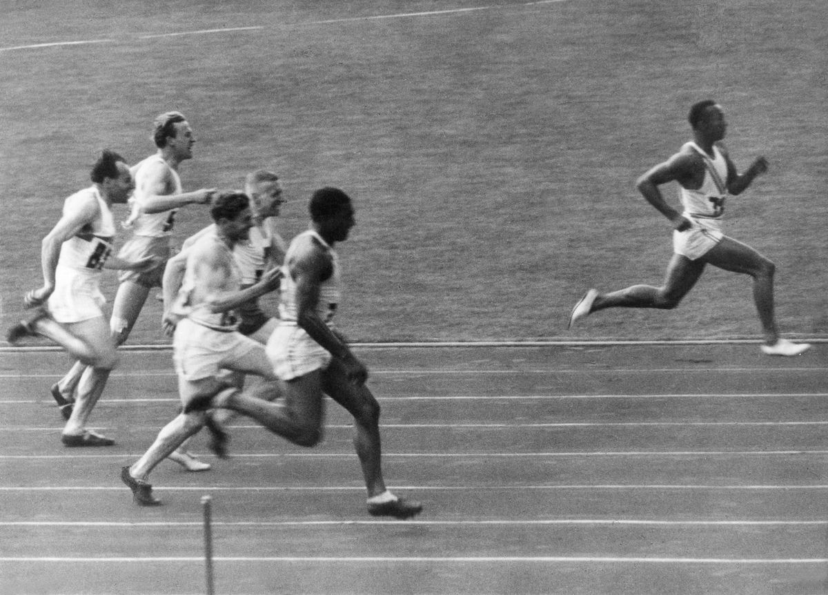 James Cleveland ('Jesse') Owens, American athlete - 1936 Olympic Summer Games in