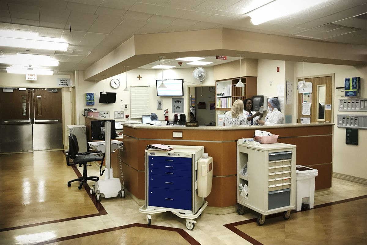 Labor and delivery at St.Joseph Health, St. Mary, a hospital in Apple Valley, a low-income area of Southern California.