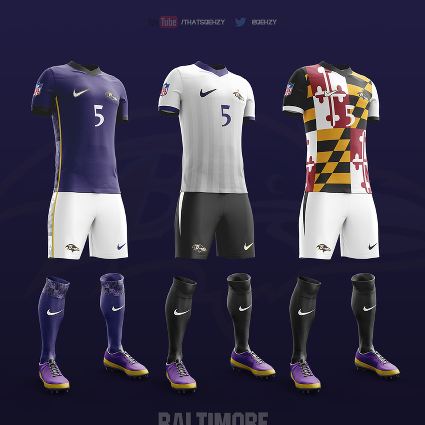 Feast your eyes on the Ravens concept soccer uniforms - Baltimore ...