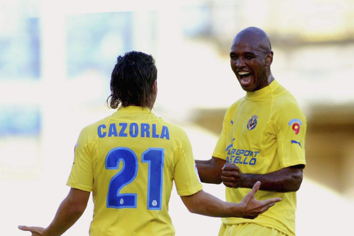 here's a blast from the past--two Villarreal legends celebrating a goal against our next Copa del Rey opponents