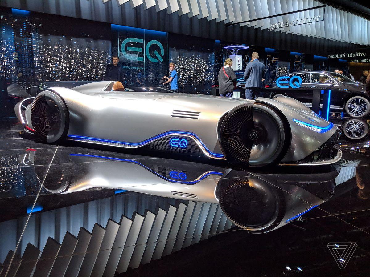 Mercedes' EQ Silver Arrow blends retro design with electric
