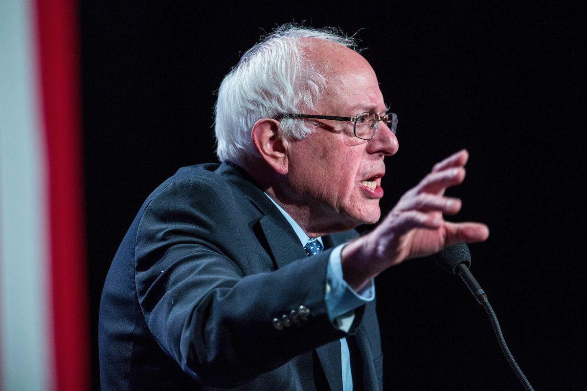 Bernie Sanders in New Hampshire.