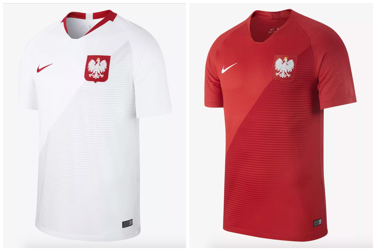 5894eb95d An example of how boring soccer jerseys are is how this barely gray fade  makes the Polish home jersey that much more exciting. The team hasn t been  to the ...