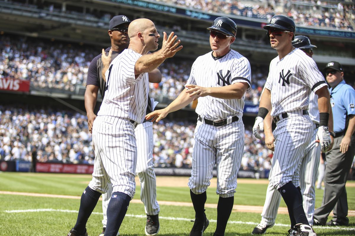 Is Brett Gardner allowed to bang his bat on the Yankees' dugout?