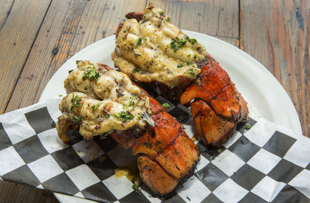 Two lobster tails