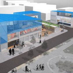 This is Octavia, where there will be rotating art and retail spaces