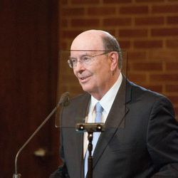 Elder Quentin L. Cook of the Quorum of the Twelve Apostles for The Church of Jesus Christ of Latter-day Saints speaks to young adults on Sept. 11, 2016. The meeting, which originated in the LDS Church's Washington D.C. Stake Center, was translated and broadcast across the globe.