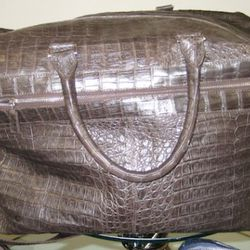 Santiago Gonzales crocodile duffle, $6,450