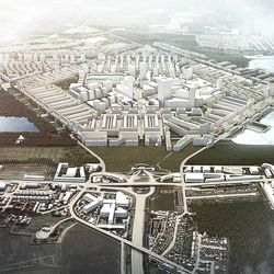 Rick Mather's Heathrow City central district