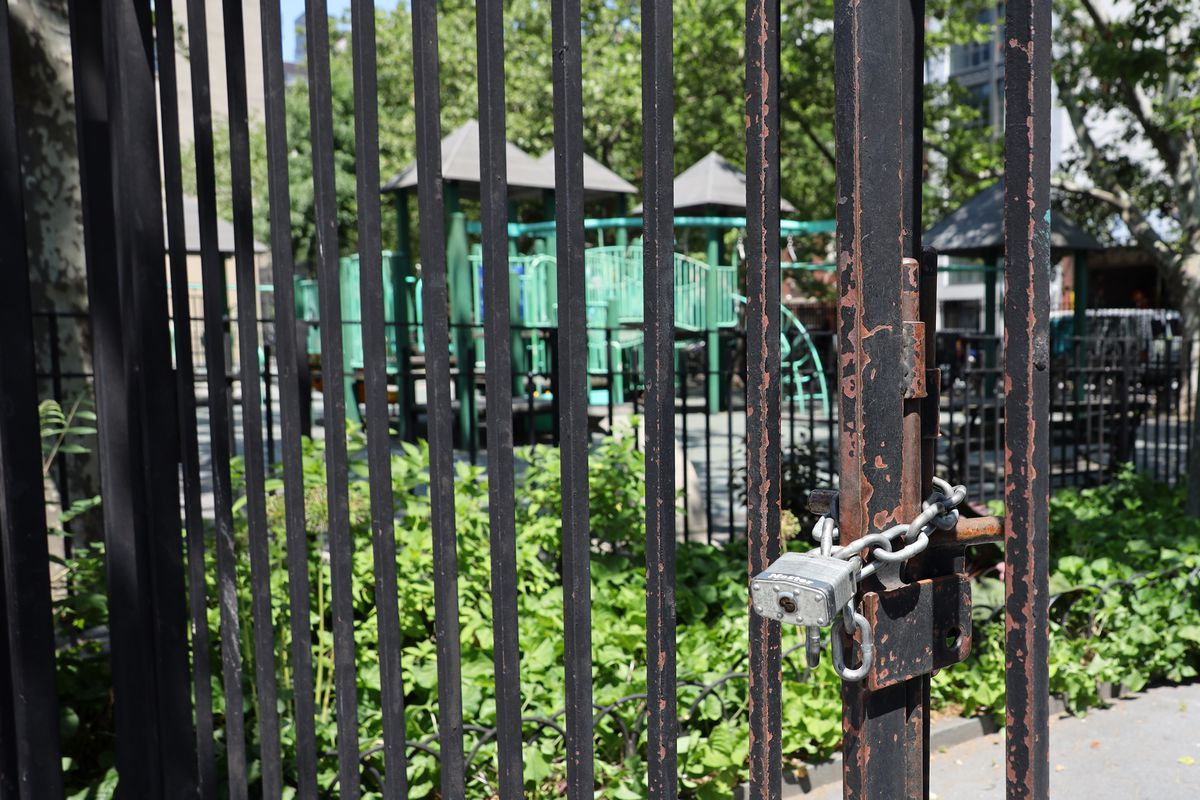 An East Village park on Houston Street remained closed on June 9, 2020.