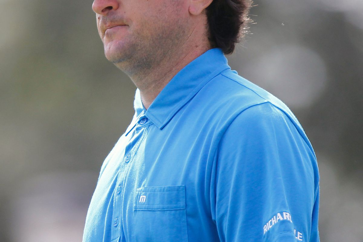 Aug. 26, 2012; Farmingdale, NY, USA; Bubba Watson walks off the first hole during the final round of The Barclays at Bethpage State Park.  Mandatory Credit: Debby Wong-US PRESSWIRE
