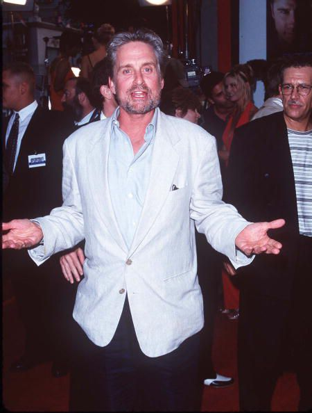 Michael Douglas on the red carpet for 'Face/Off'