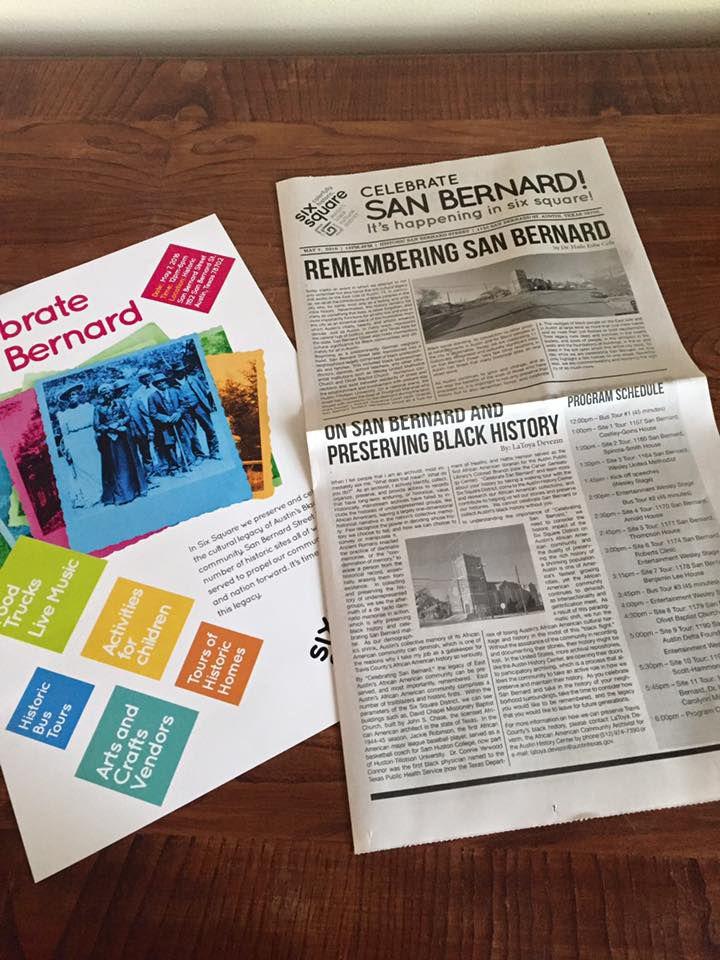 Materials for Celebrate San Bernard event