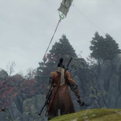 Use the kite as a grapple point to catapult over the abyss.