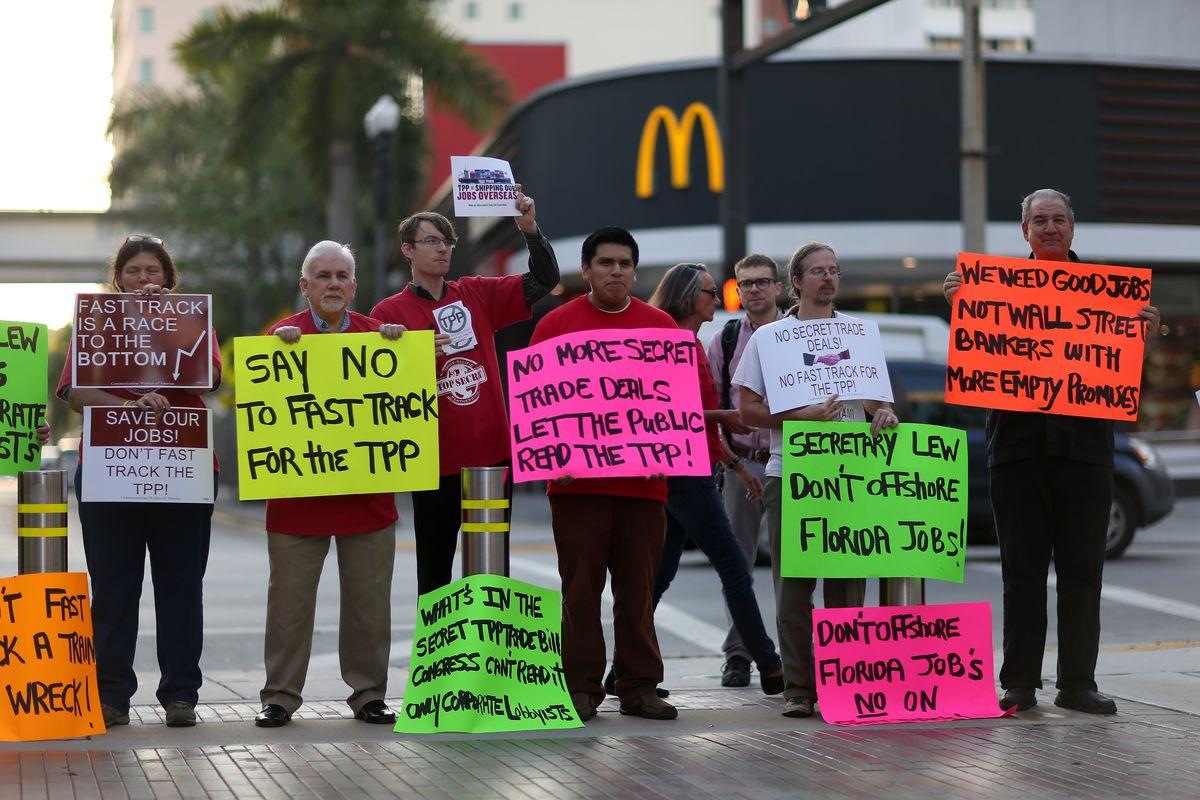 TPP protestors