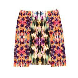 "<a href=""http://www.icbnyc.com/shop/azalea-multi-kaleidoscope-print-cotton-mini"">Kaleidoscope print cotton mini</a>, $44.00 (was $295.00)"
