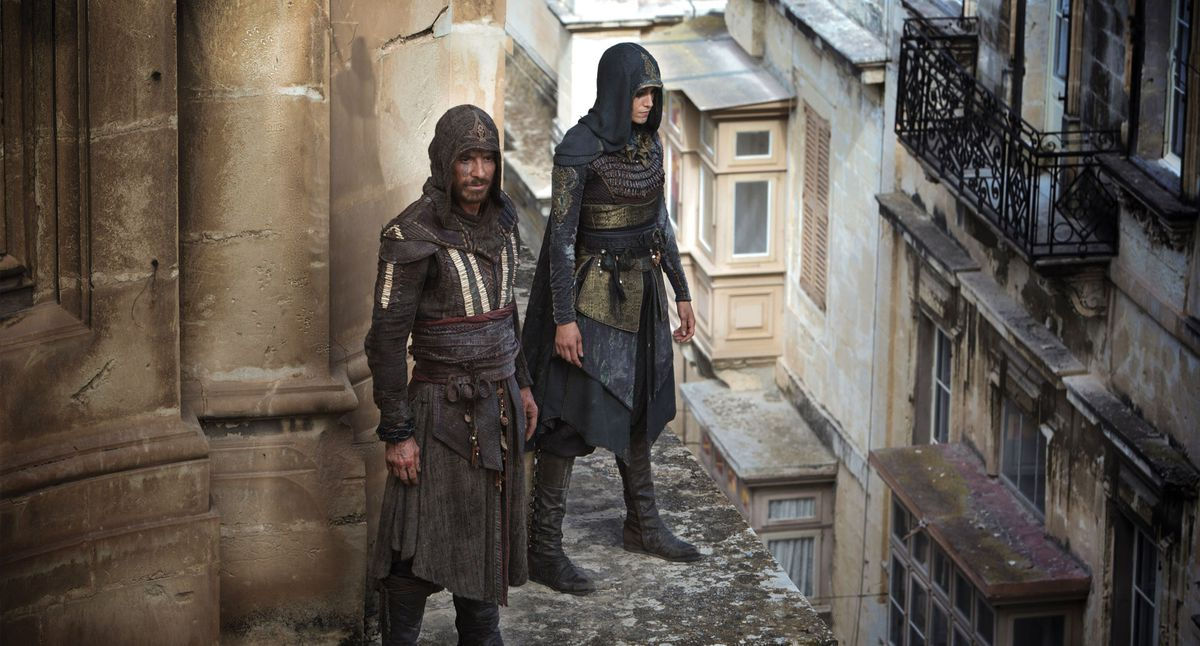 Michael Fassbender and Ariane Labed in Assassin's Creed