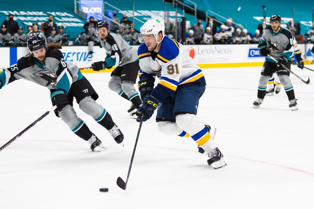 NHL: MAR 19 Blues at Sharks