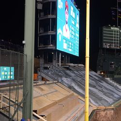 9:00 p.m. The video board. This is the approximate view from Al's seat in 202 -