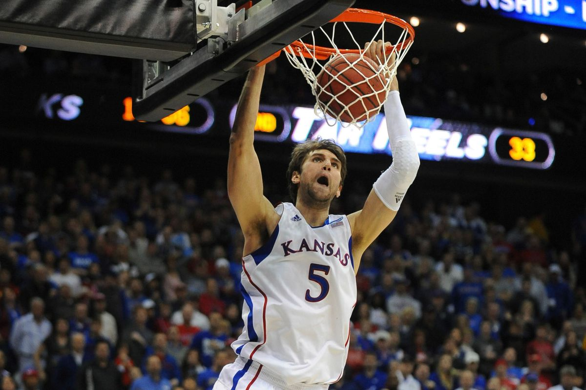 Jeff Withey, much like Kansas, plays alone in the tournament's second week