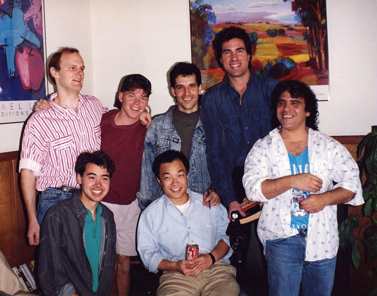 Top row: Larsen, Liefeld, McFarlane, and Silvestri. Bottom row: Hank Kanalz, Jim Lee, and Jim Valentino (Courtesy ImageComics)