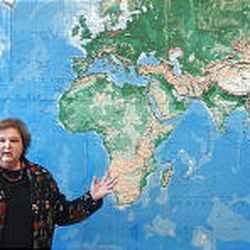 East High School geography teacher Nancy Hedrick developed a school curriculum on nonviolence. She will receive a Gandhi peace award for her work.