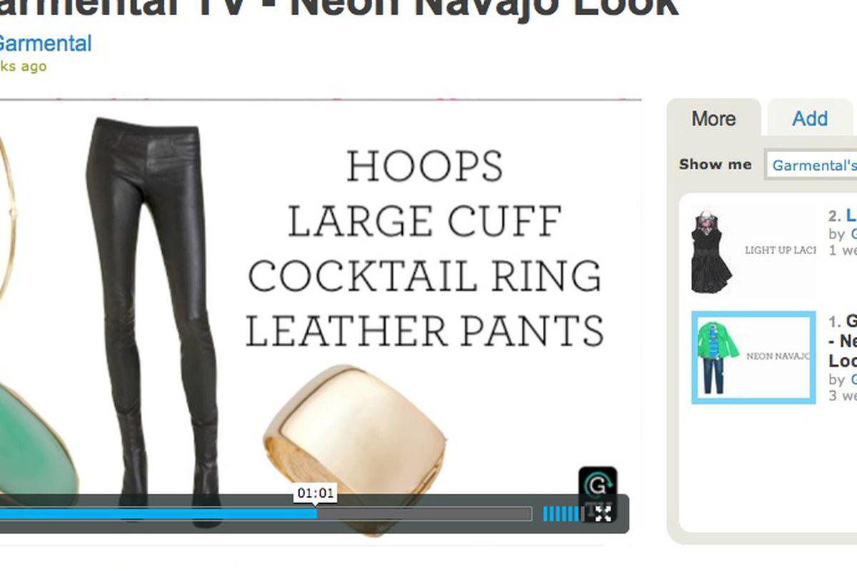 Screenshot of Garmental TV on Vimeo.