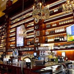 The bar at Carmine's.