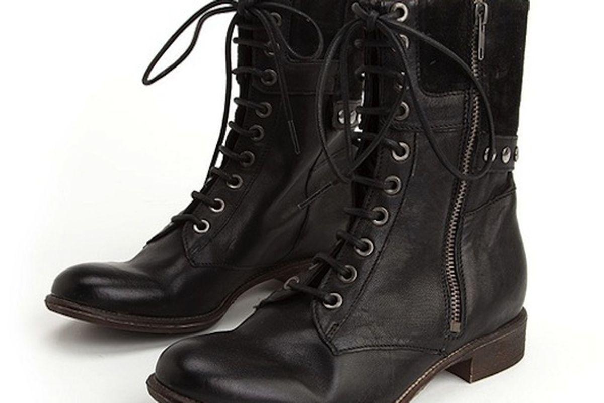 "Boutique 9 Rivit military boots, $158. Image via <a href=""http://www.lorisshoes.com/product.asp?lt=d&amp;deptid=4334&amp;pfid=LDS16904"">Lori's</a>"