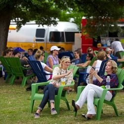 Festival-goers relax at Butler Park. // photo by Patrick Michels