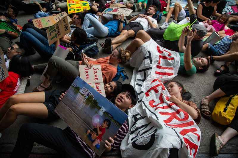 Thais Rally In Bangkok For Global Climate Strike