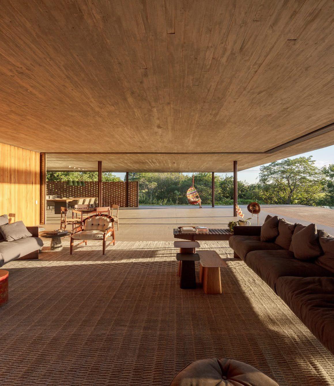 Interior shot of living room and terrace