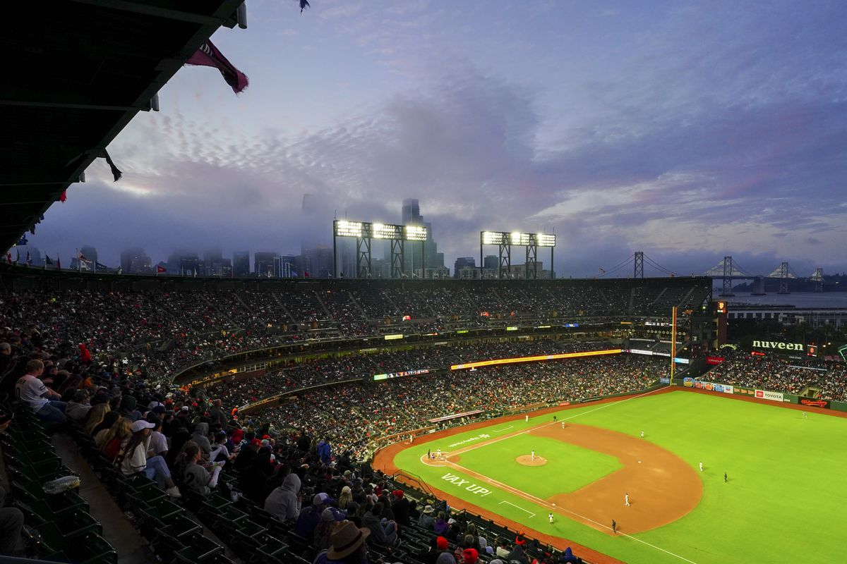 A general view during the game between the Los Angeles Dodgers and the San Francisco Giants at Oracle Park on Wednesday, July 28, 2021 in San Francisco, California.