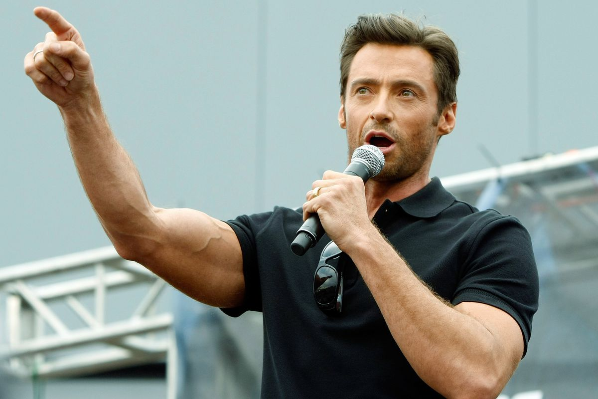 I don't think Michigan has a mascot of any kind, so here's a picture of Hugh Jackman, who plays Wolverine in the X-Men movies.