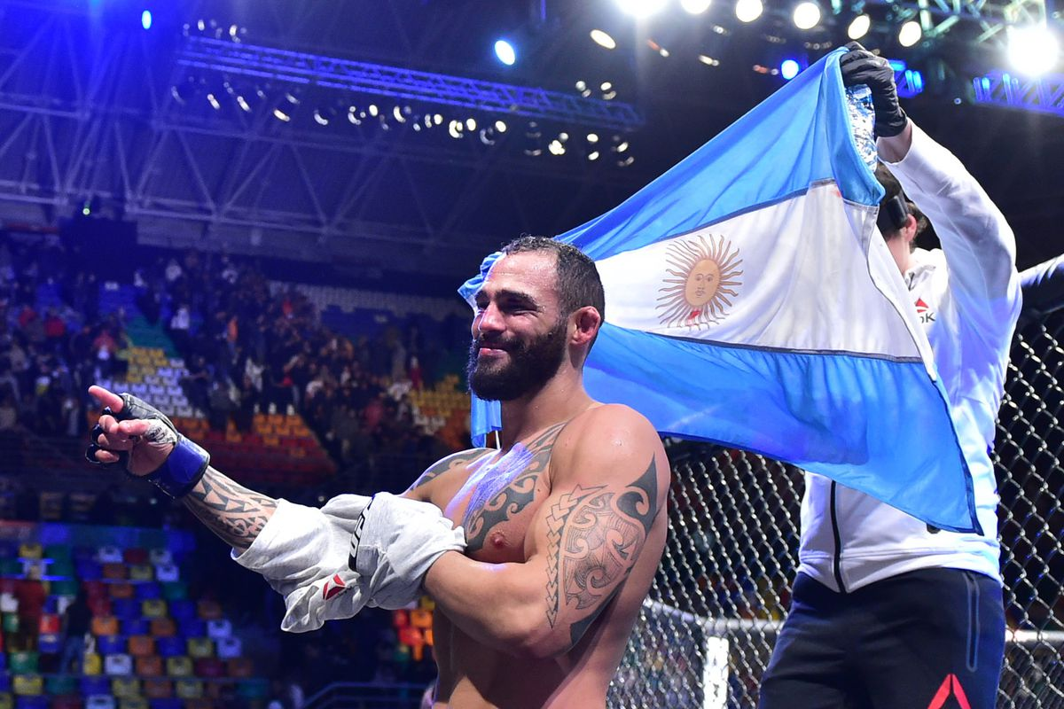 Why is Santiago Ponzinibbio so pissed off? Just ask 'scared' Rafael dos Anjos