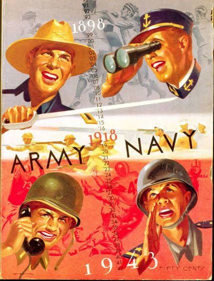 Official Program Cover for the 1943 Army-Navy game