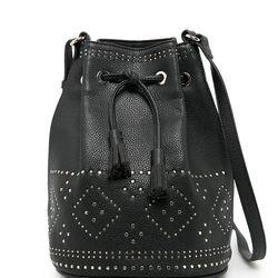 "Mango studded bucket bag, <a href=""http://www.mango.com/US/p0/women/accessories/bags/studded-bucket-bag/?id=33033680_02&n=1&s=accesorios.bolsos&ident=0__0_1412345712113&ts=1412345712113"">$79.99</a>"