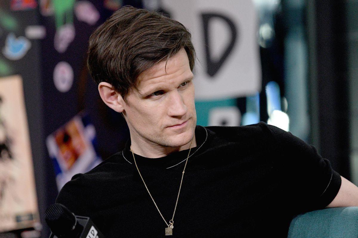 Matt Smith wearing a black T-shirt
