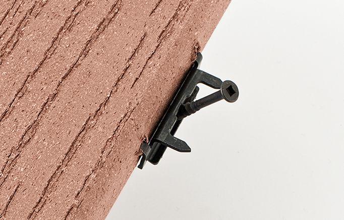 Hidden Fastener for Solid Composite Decking Board