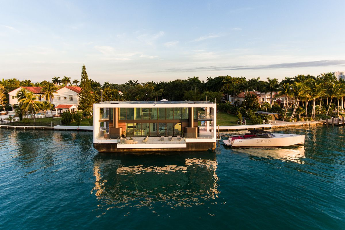 luxury floating home with big deck