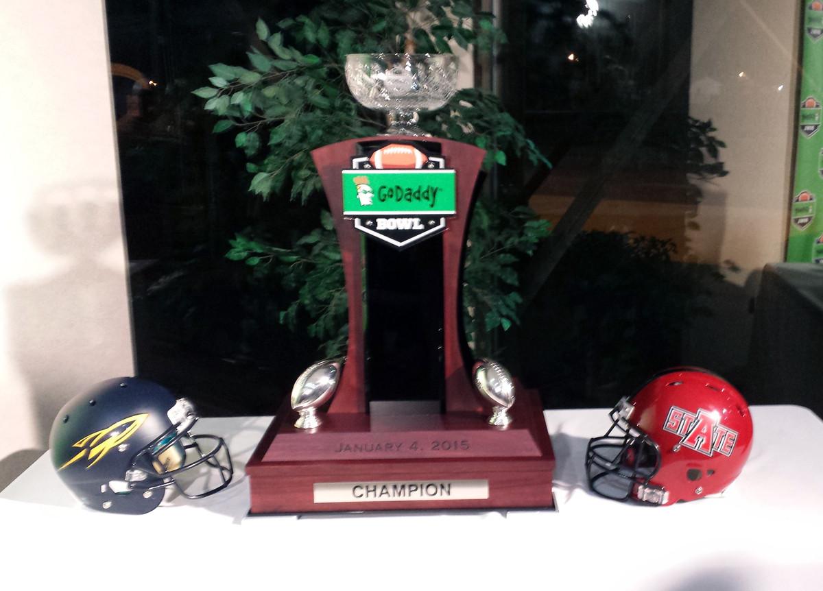 GoDaddy Bowl Trophy